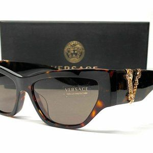 Versace Havana Brown 56mm Sunglasses